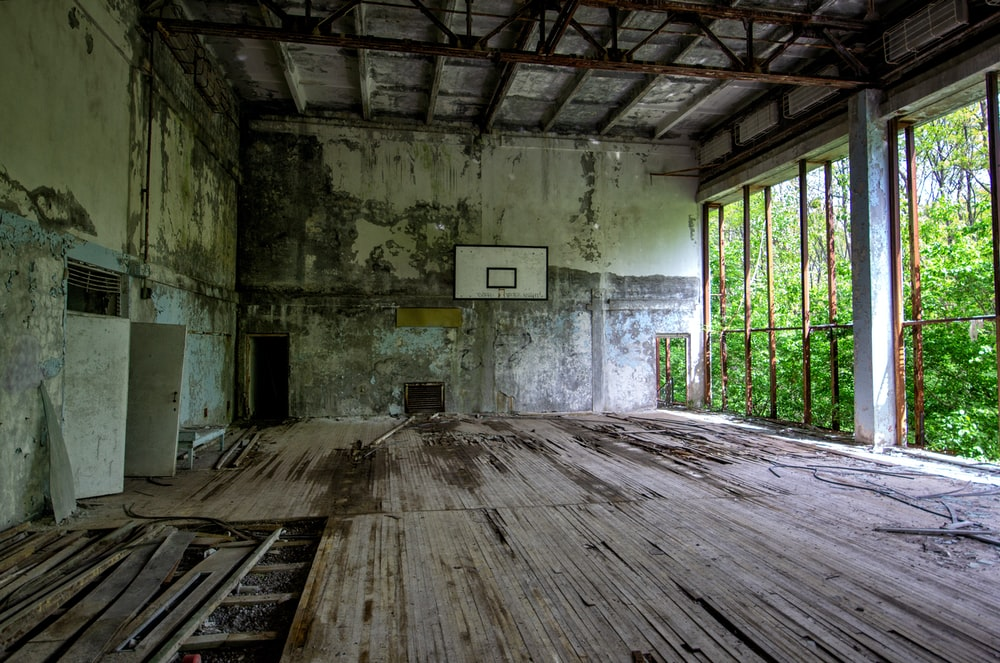 basketball system in building