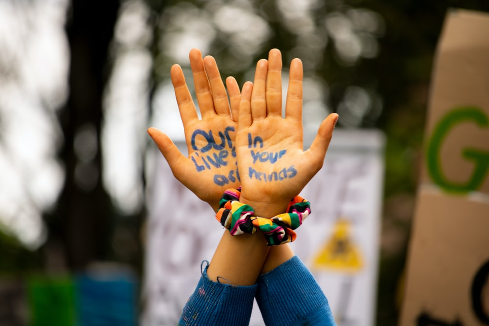 selective focus photography of hands