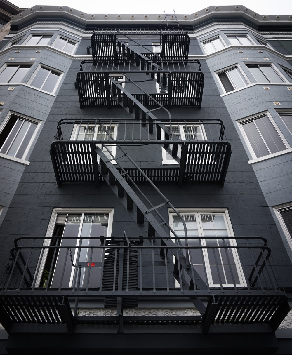 black and grey building