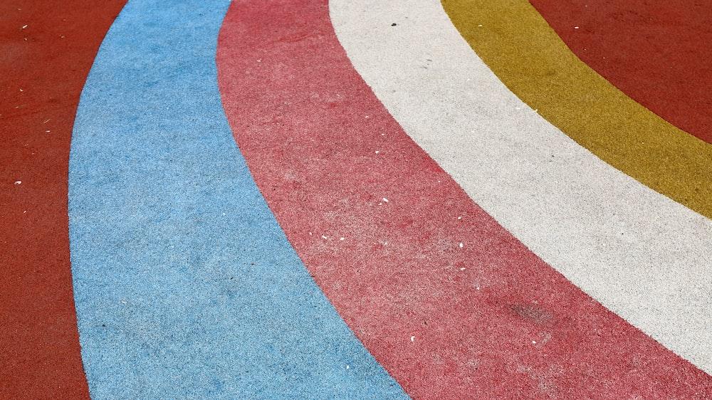 multicolored striped rug