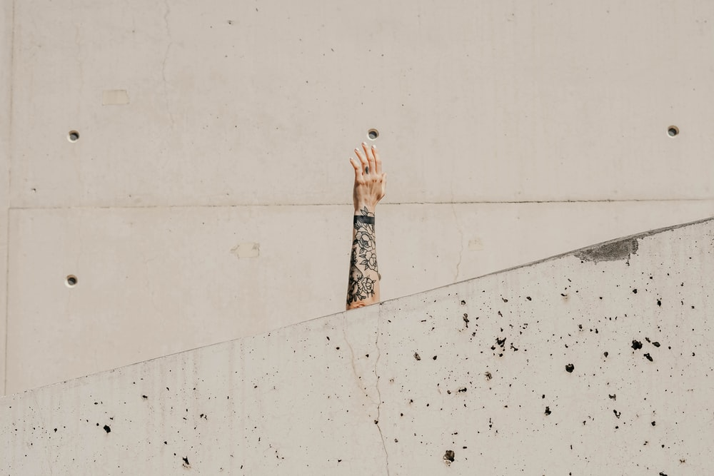 hand with tattoo