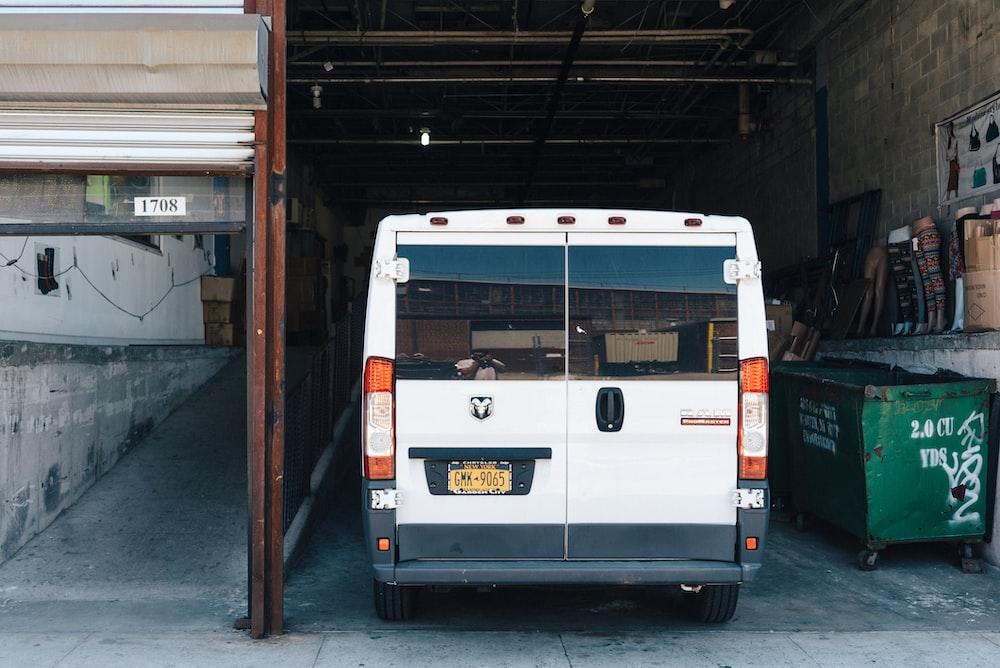 white Dodge Grand Caravan