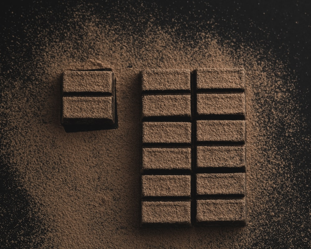 flat-lay photography of chocolate bars