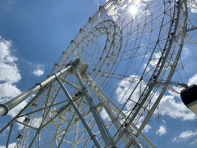 Ferris wheel at theme park in Orlando Florida