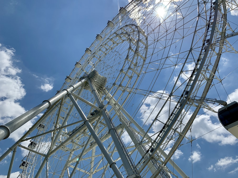 low-angle photography of ferriswheel