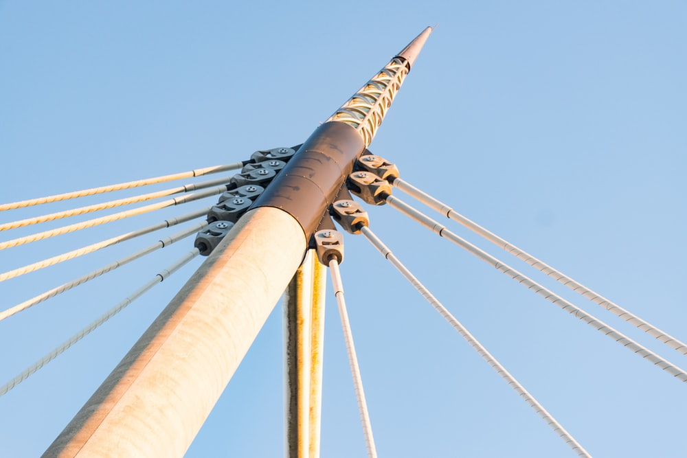 low-angle photography of pole