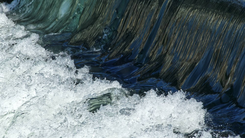 close-up photography of body of water
