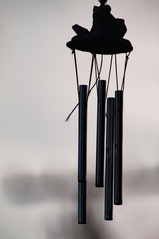black wind chime