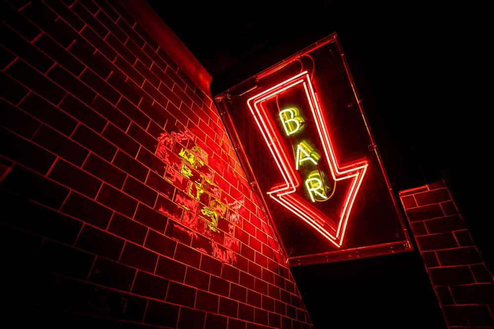 red bar neon sign