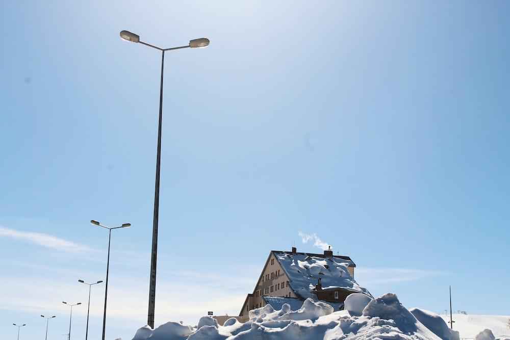 light post near house