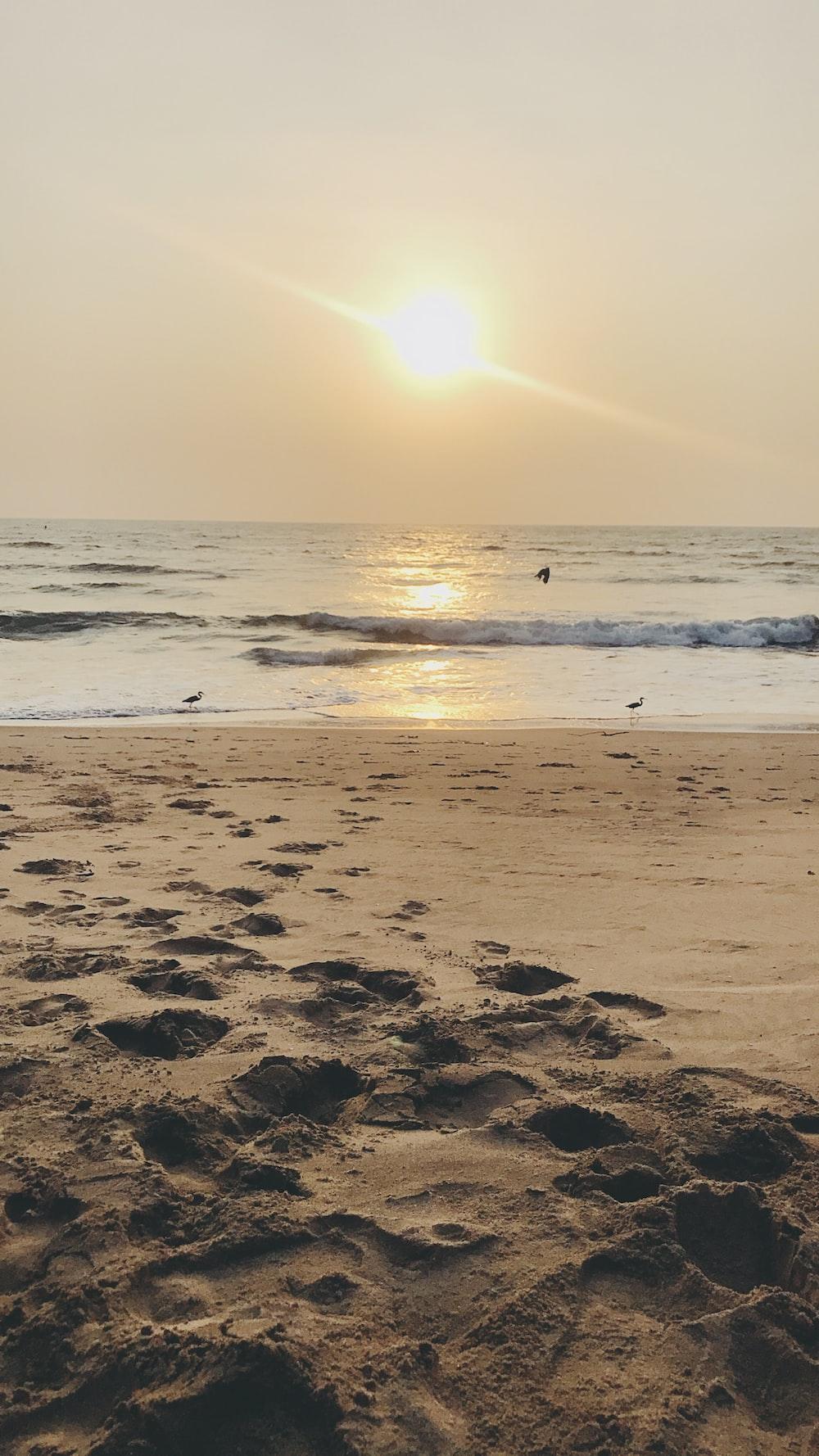 sun view on beach