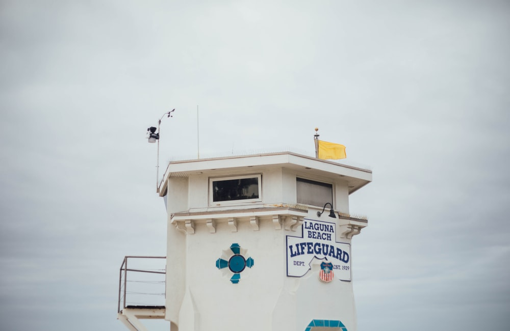white Lifeguard building