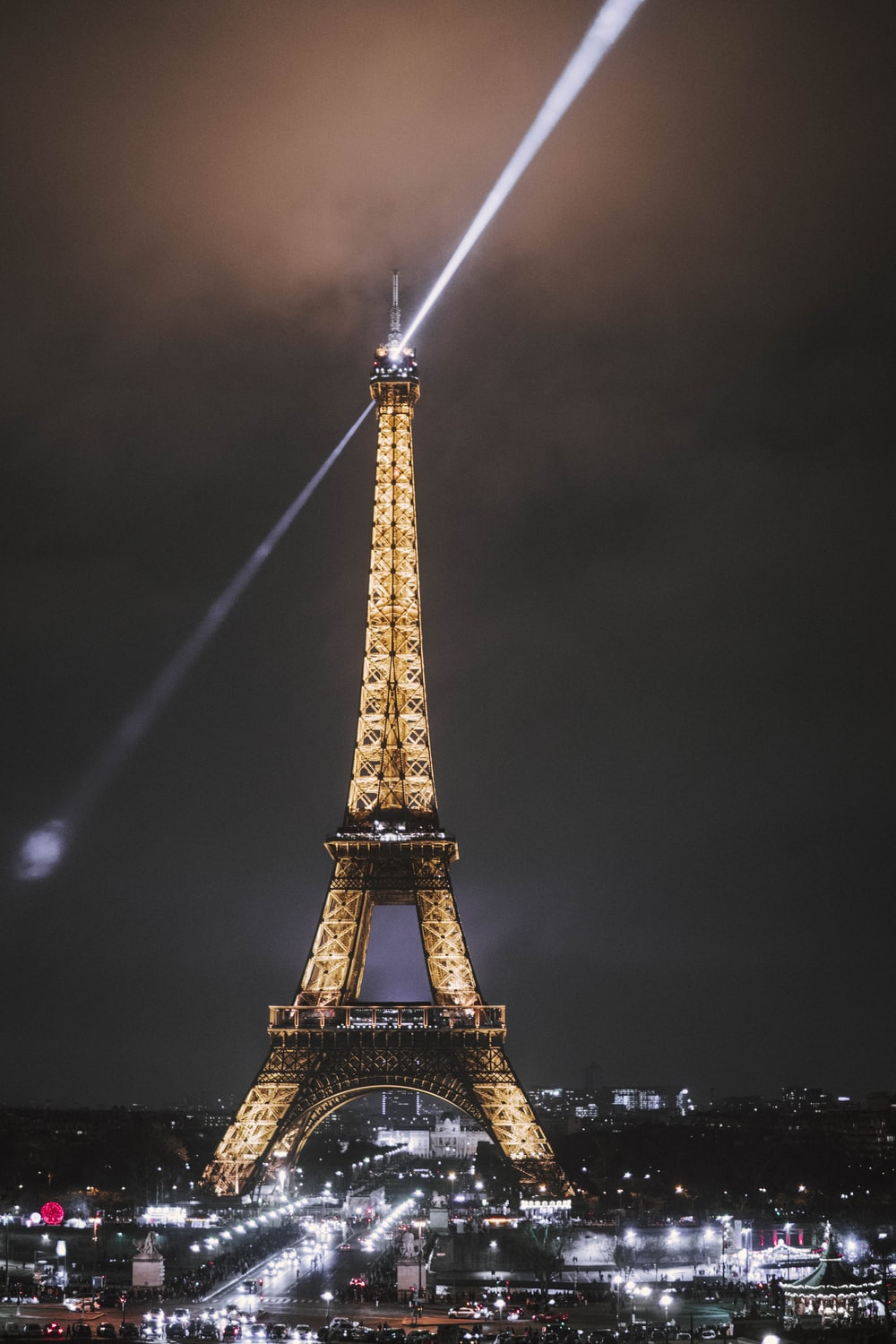lighted Eiffel Tower of Paris during nighttime
