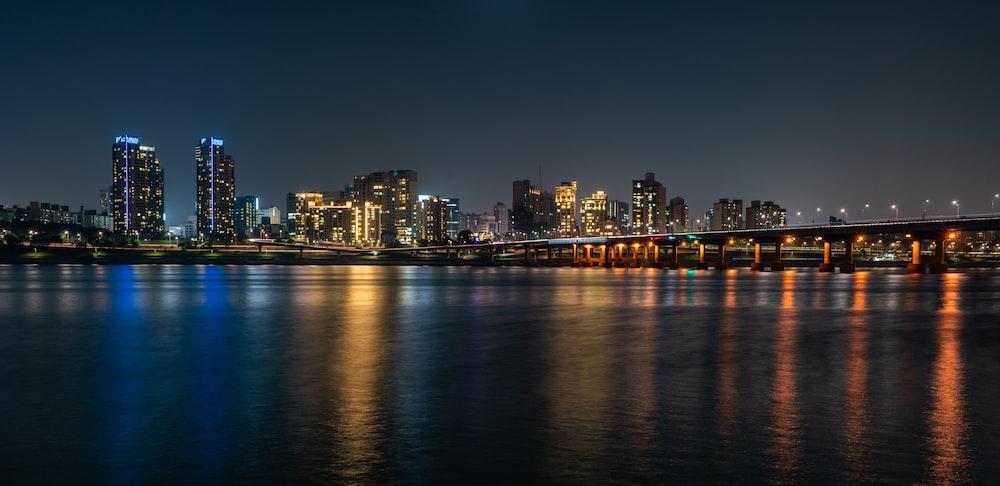 city near body of water