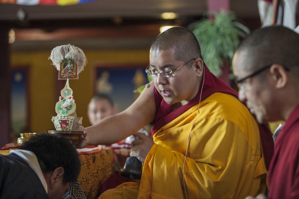 monk during daytime