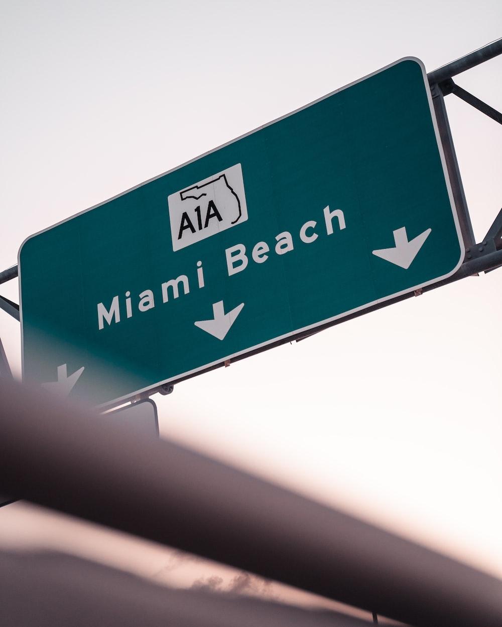 A1A Miami Beach sign