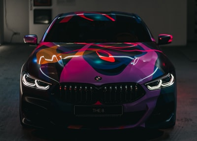black and purple bmw vehicle automobile teams background