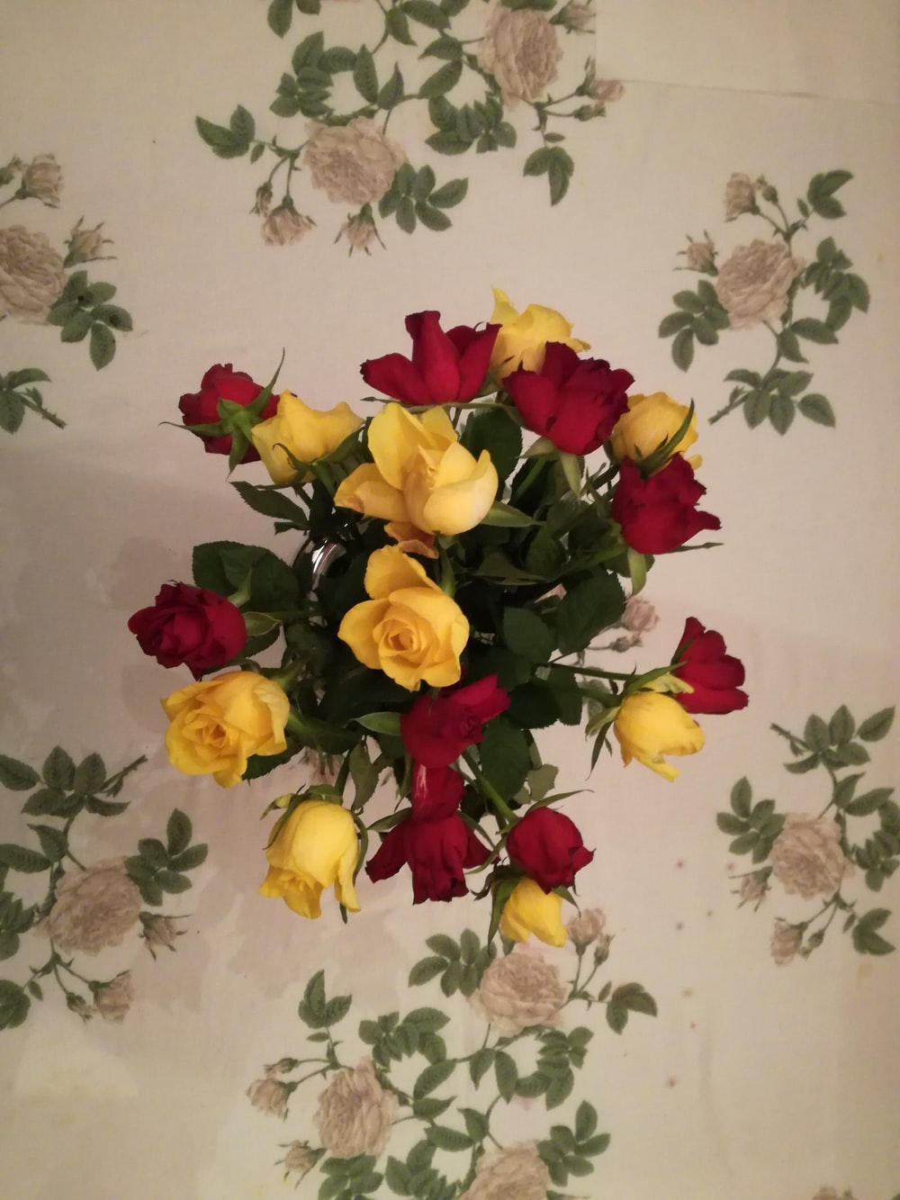 yellow and red rose flowers
