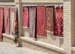assorted-color areal rug lot