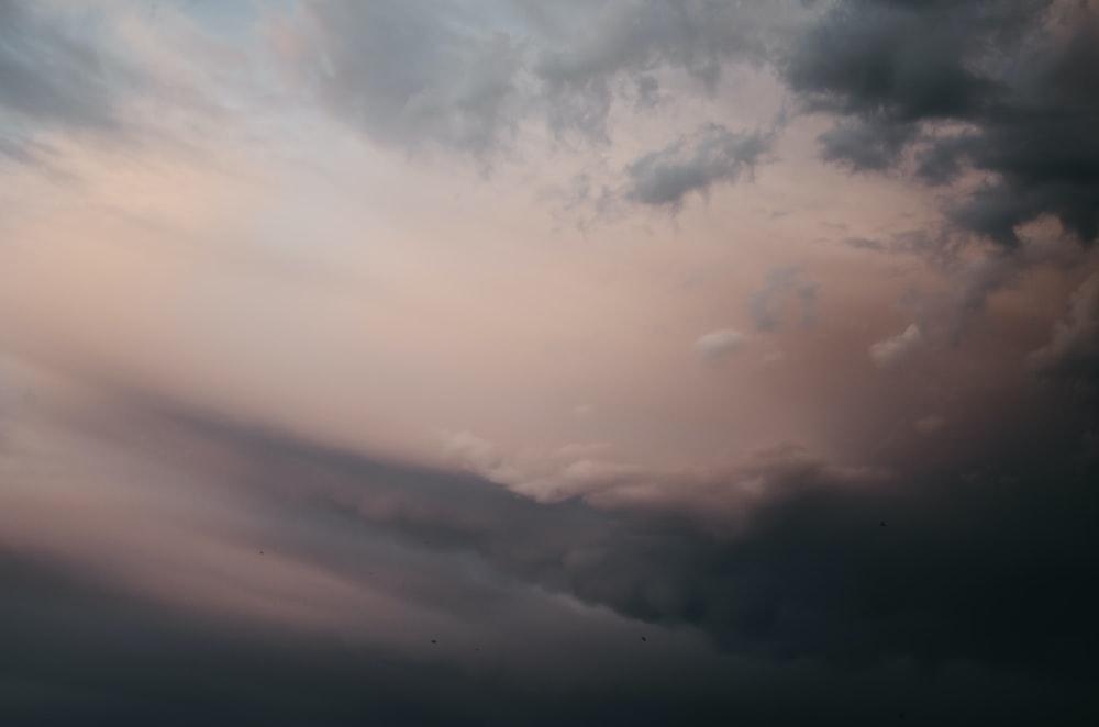 gray and white skies