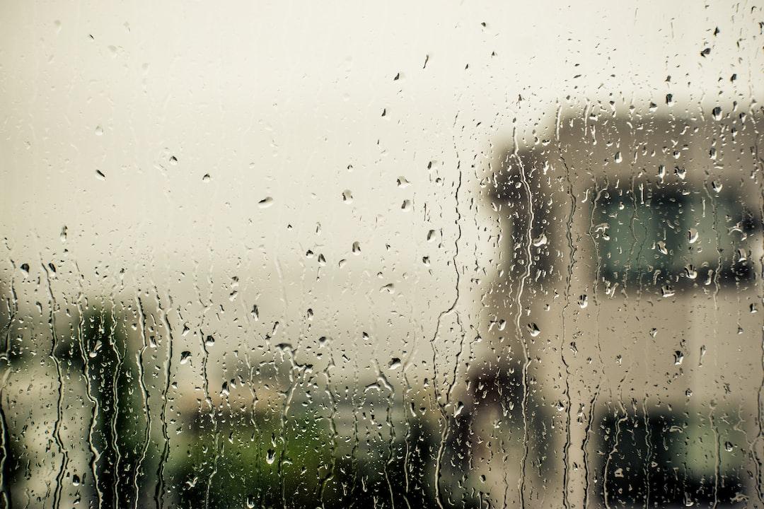 Moody rain drops on my apartment windows