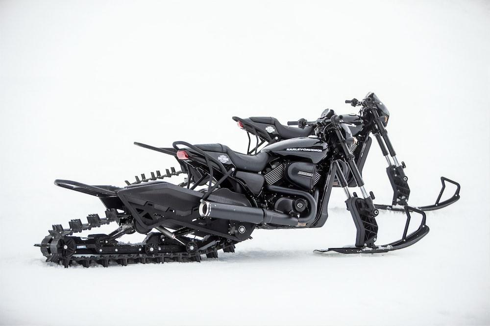 black snow motocycle