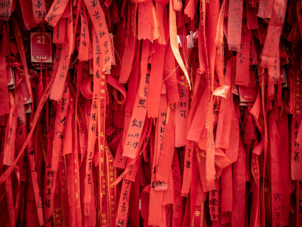 red paper strips