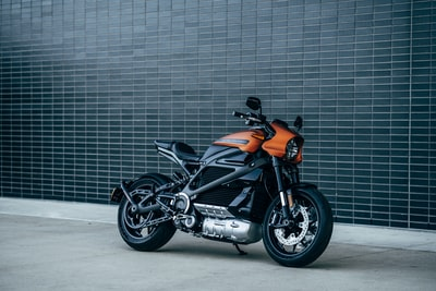 black and orange motorcycle bike zoom background