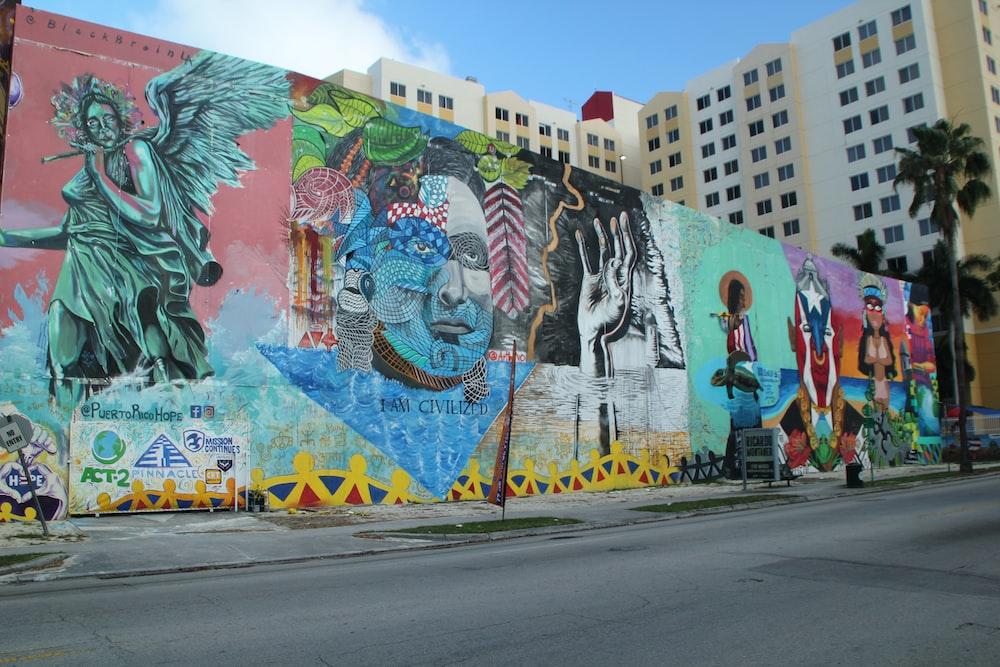 graffiti wall art during daytime