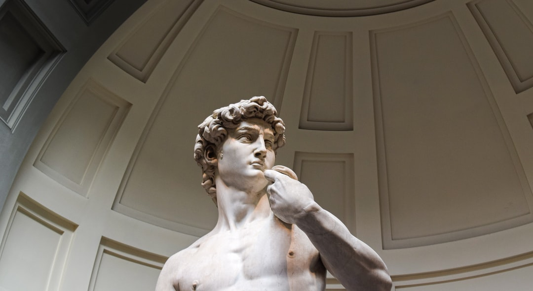 Michelangelo's David in Florence.