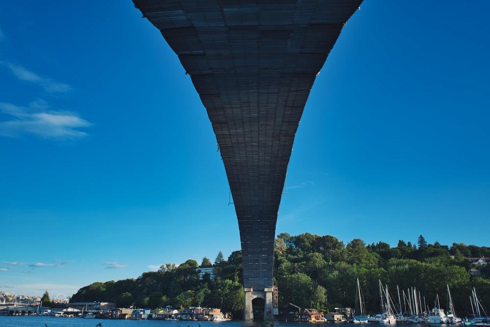gray bridge at daytime