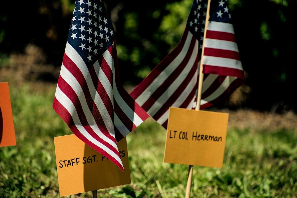 Lt. Col Herman sign on USA flag