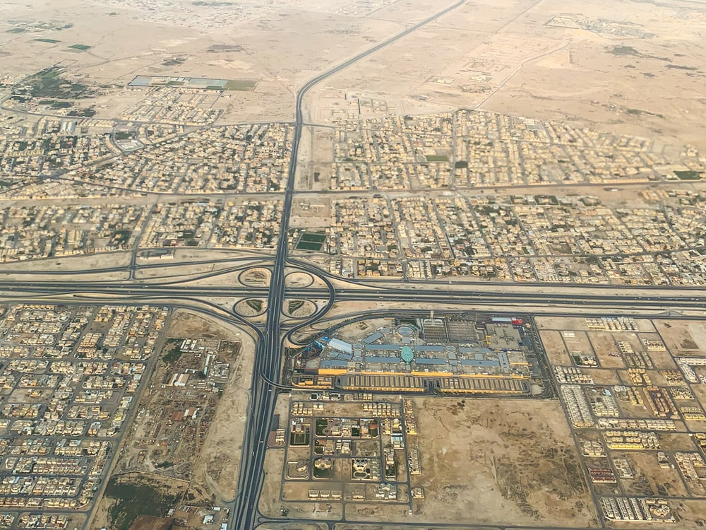 aerial photography of rural area