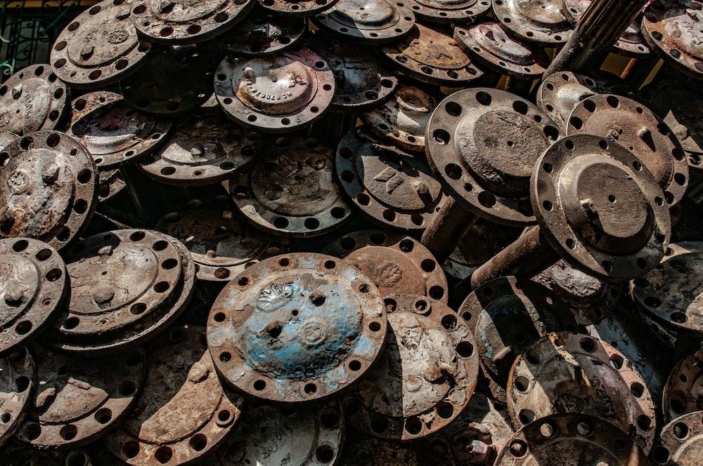 pile of wheel spacers