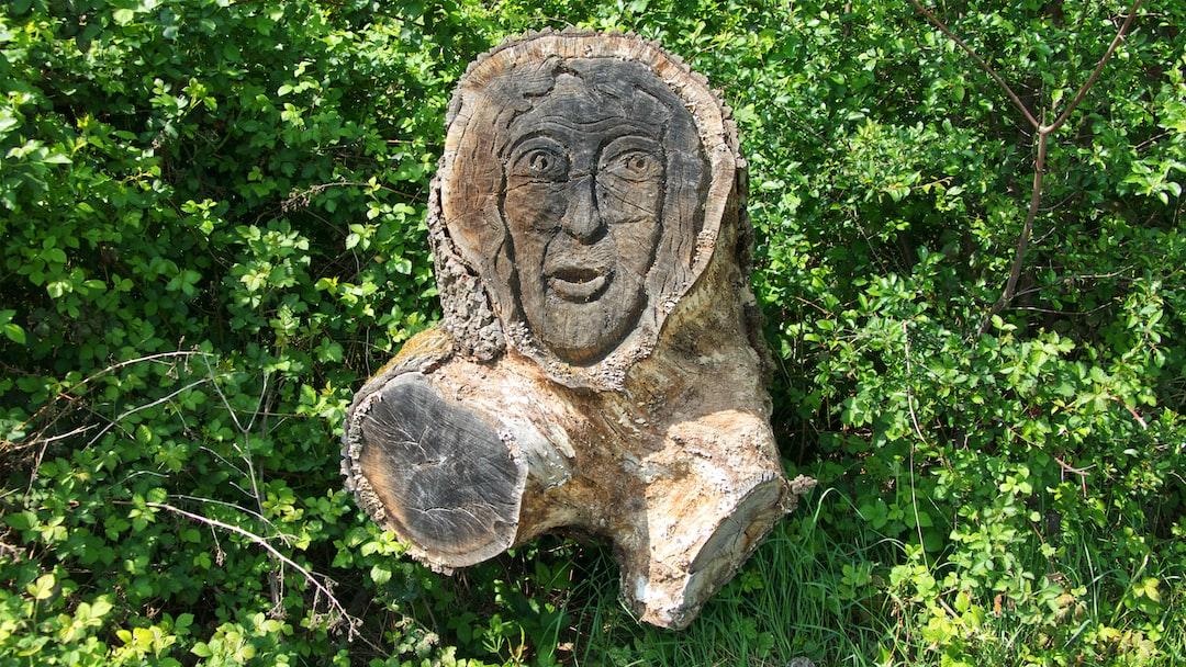 Sculpture sur bois près du château de Ferrières-en-Brie