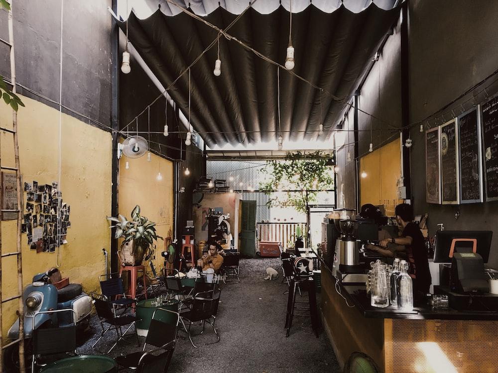 no people inside cafe during daytime