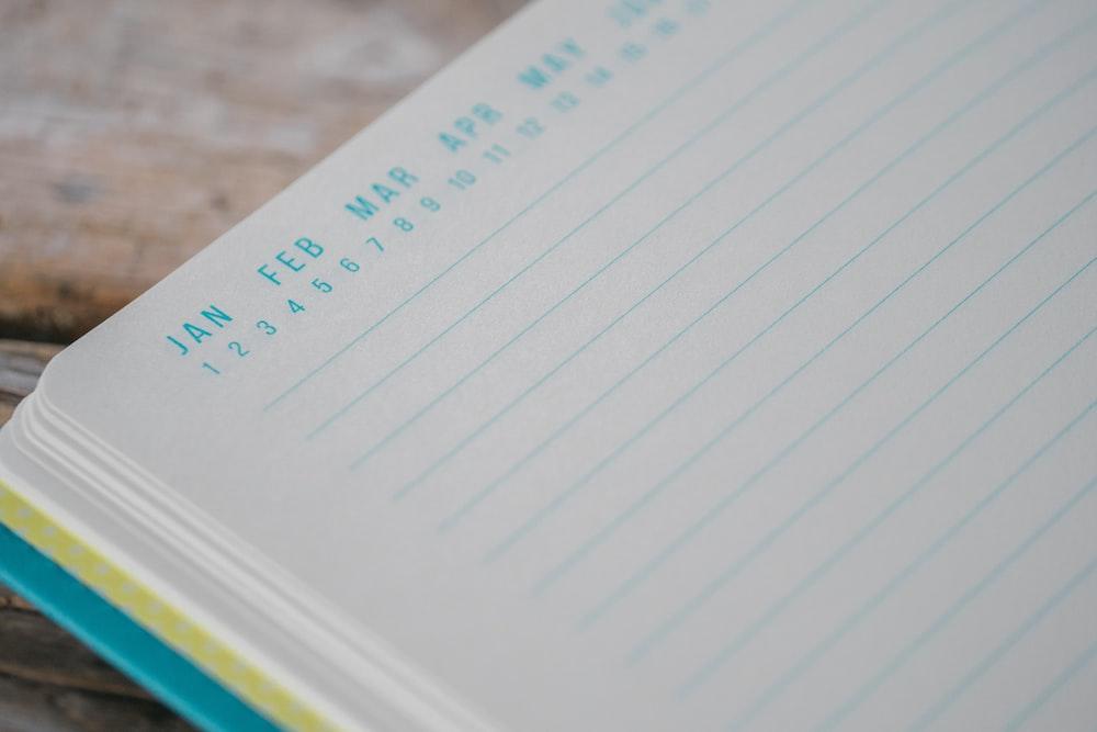 empty notebook