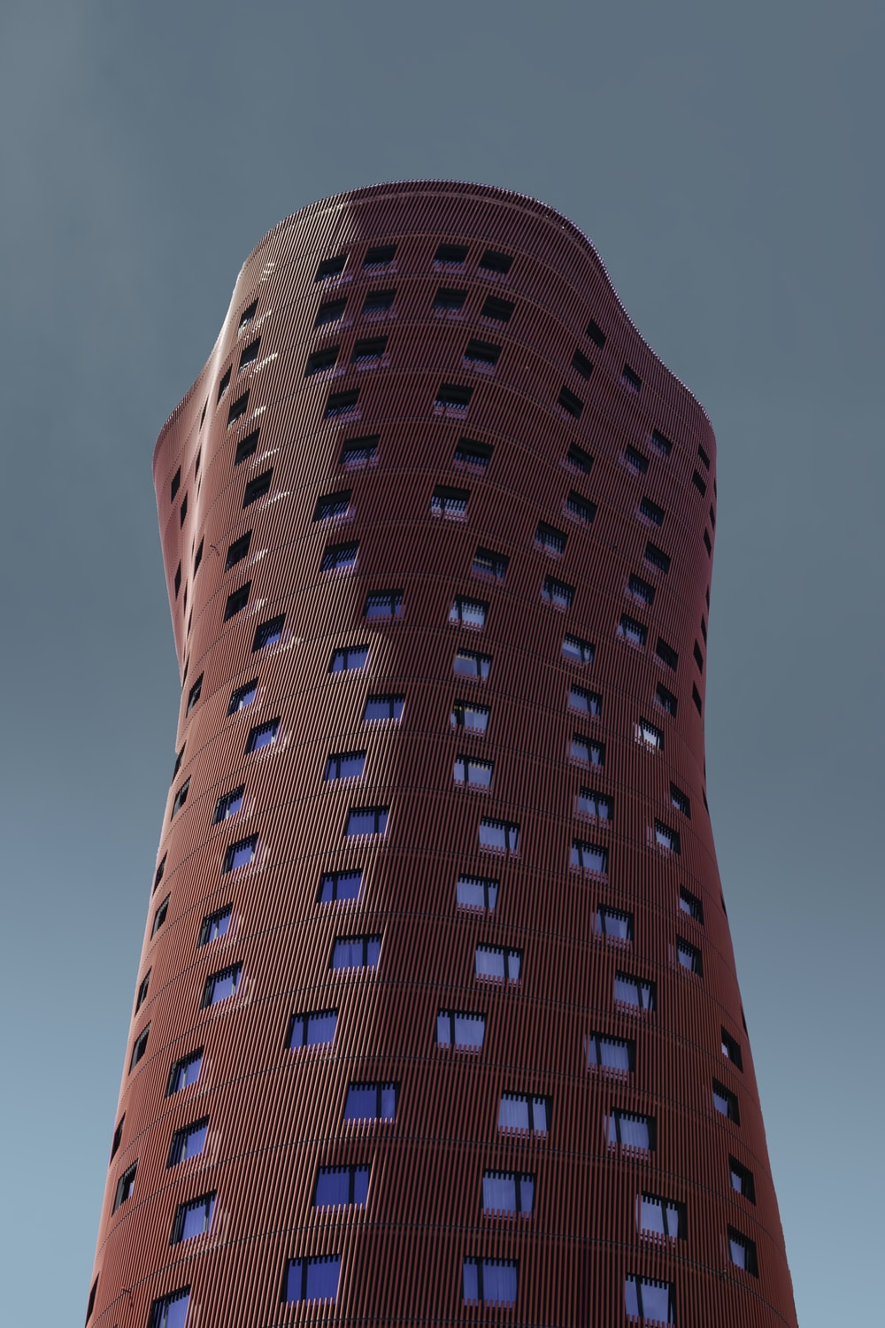 tall red building