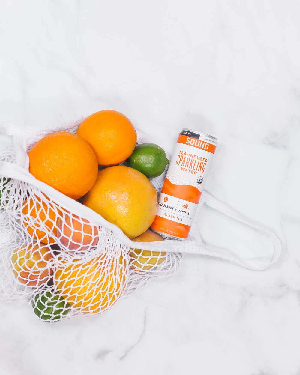 bag of citrus fruits
