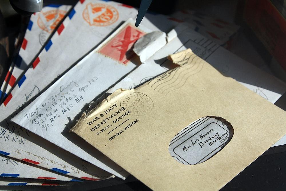 opened envelopes