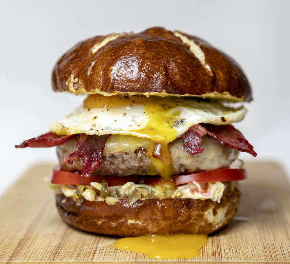 cheese bacon hamburger