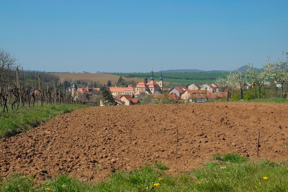 brown plowed soil during daytime