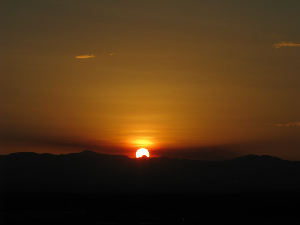 view of sunset