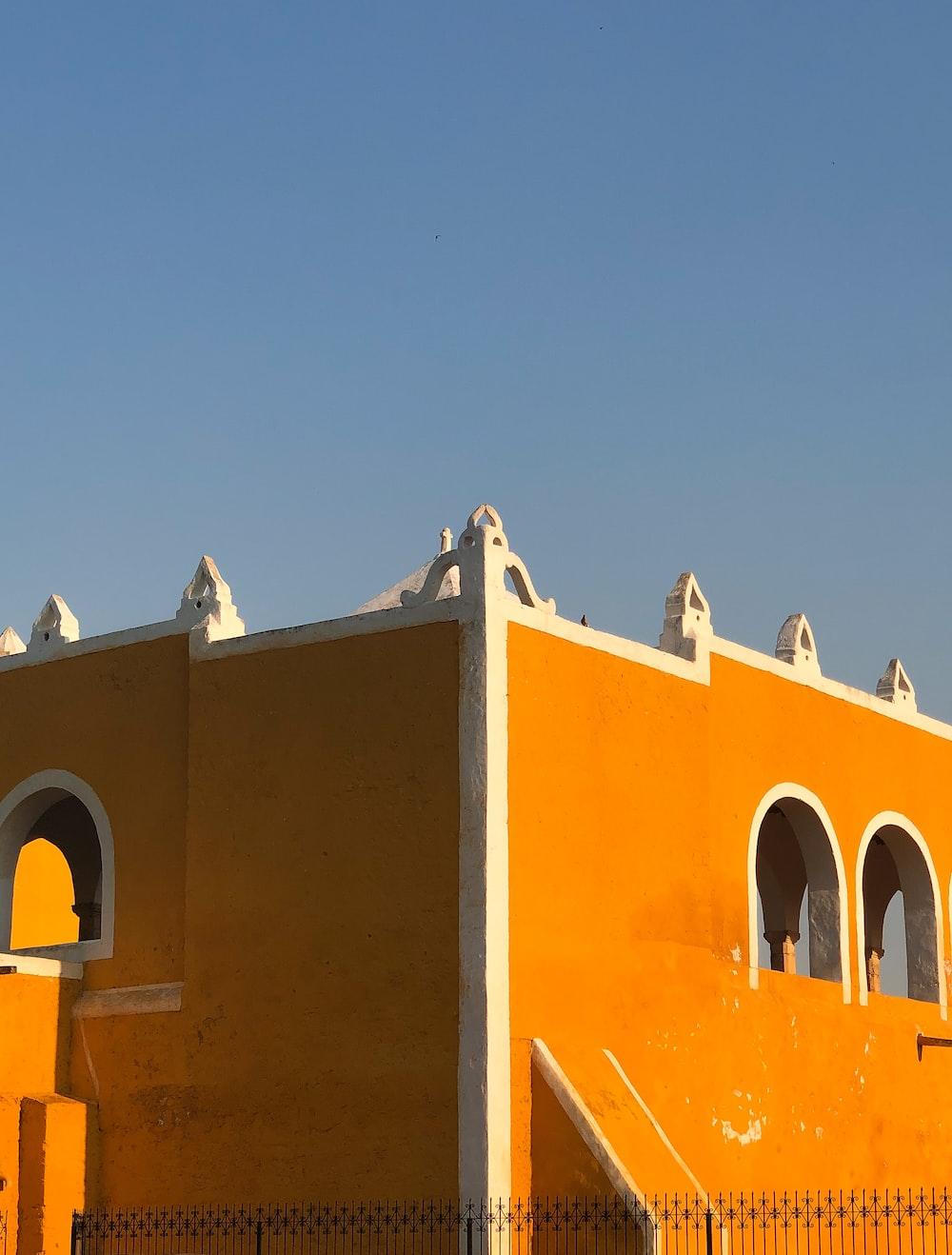 orange and white building