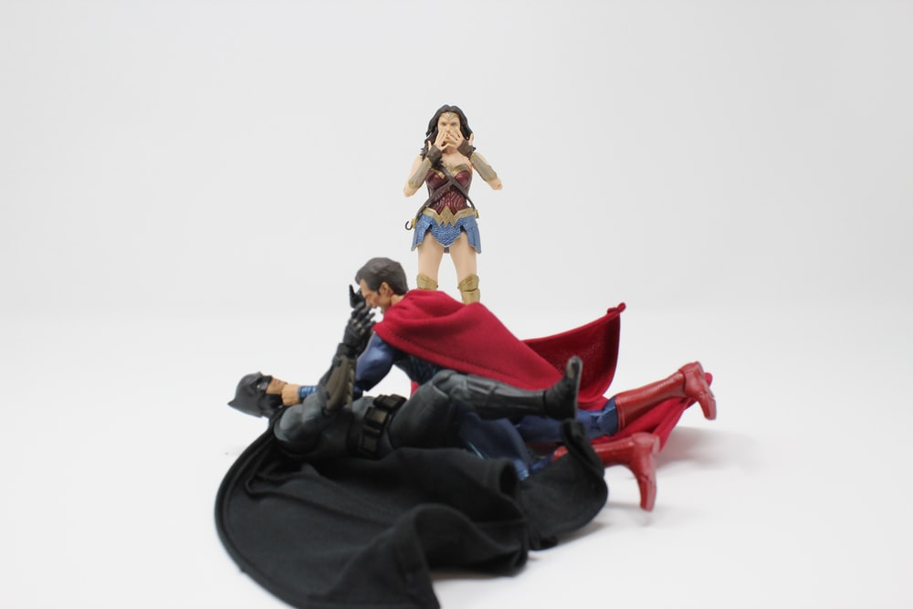 Bat-Man, Superman and Wonder Woman action figures