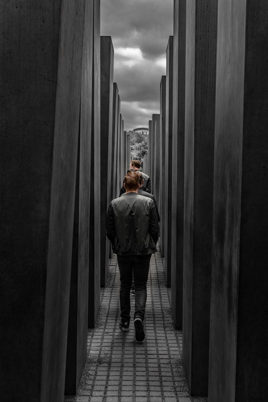 men walking on pathway