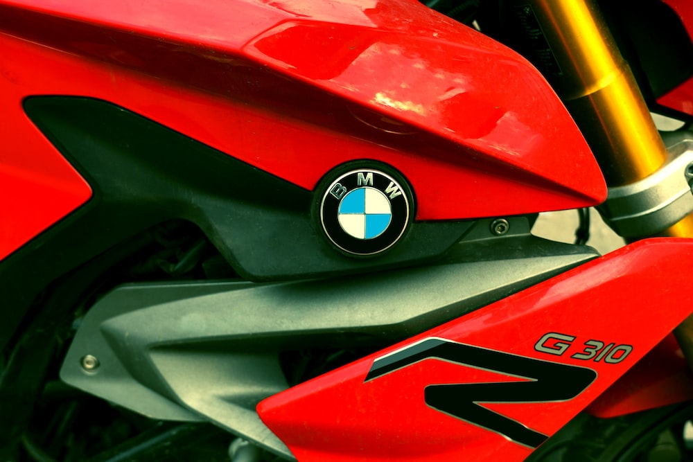red BMW G310 motorcycle