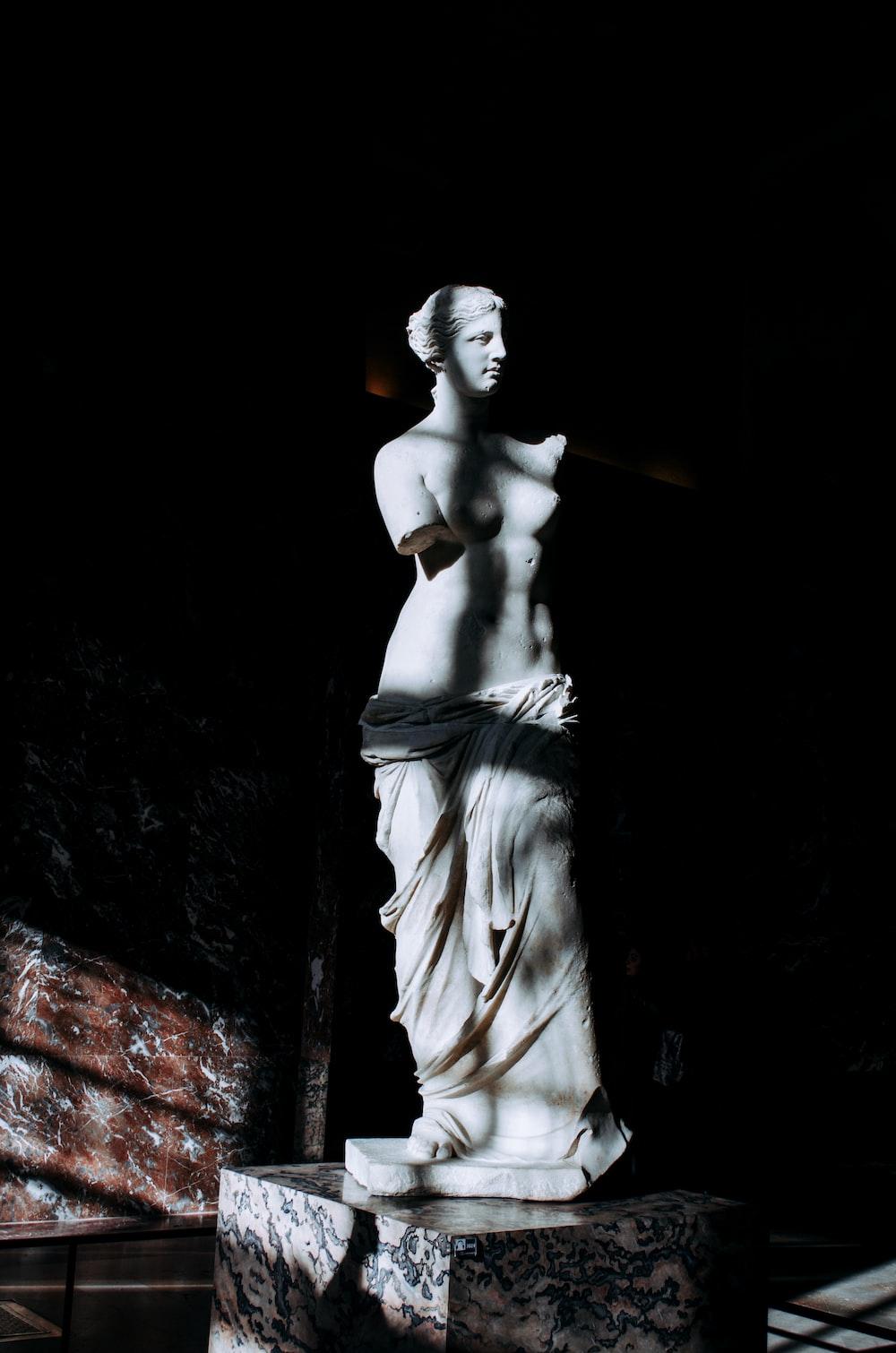woman white statue