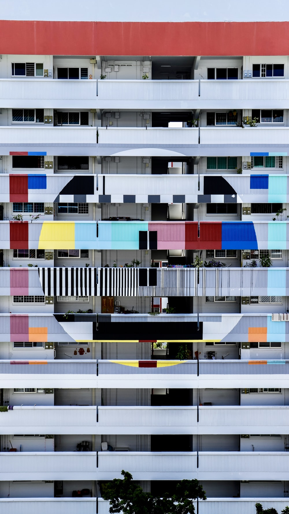 multicolored multiple story building