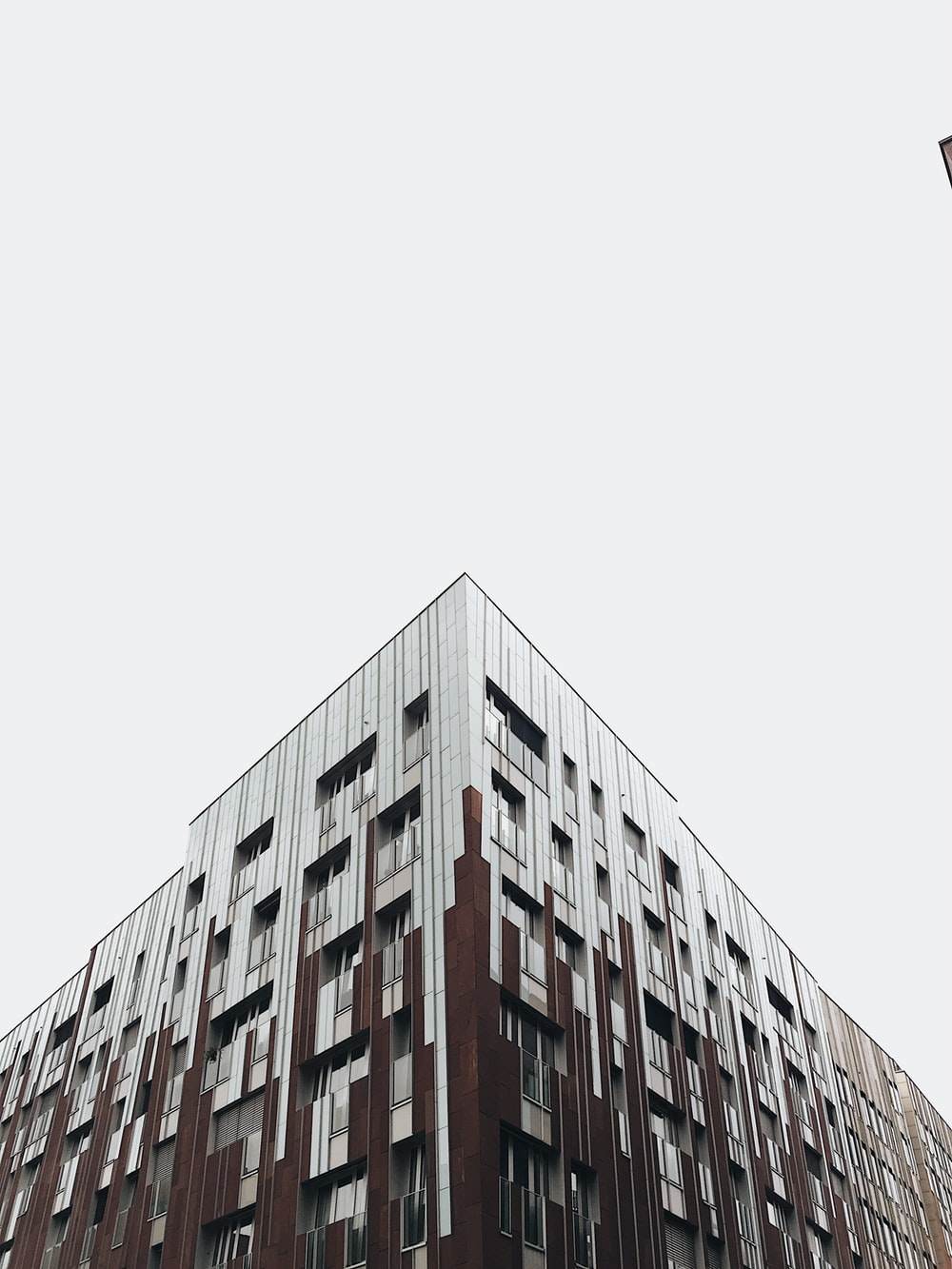 white and brown building